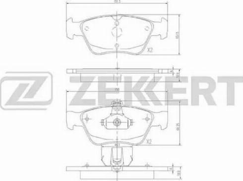 Zekkert BS-2833 - Комплект тормозных колодок, дисковый тормоз autodnr.net