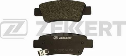 Zekkert BS-2836 - Комплект тормозных колодок, дисковый тормоз autodnr.net