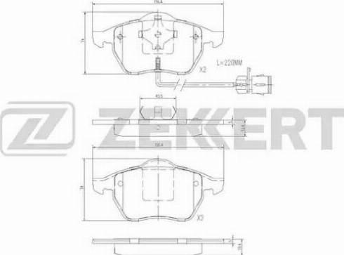 Zekkert BS-2847 - Комплект тормозных колодок, дисковый тормоз autodnr.net