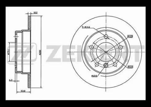 Zekkert BS-5002 - Тормозной диск autodnr.net