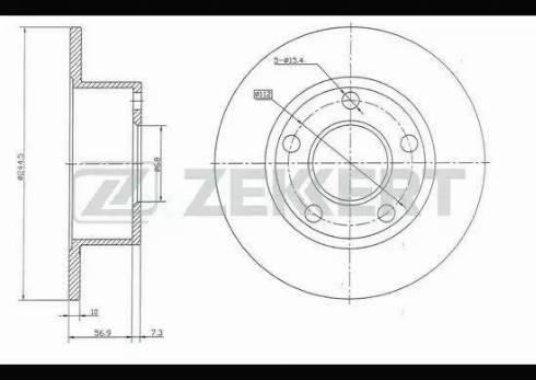 Zekkert BS-5080 - Тормозной диск autodnr.net