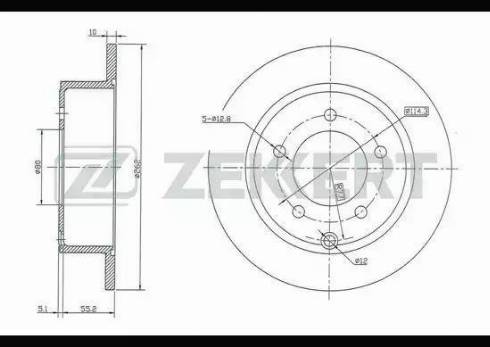 Zekkert BS-5135 - Тормозной диск autodnr.net