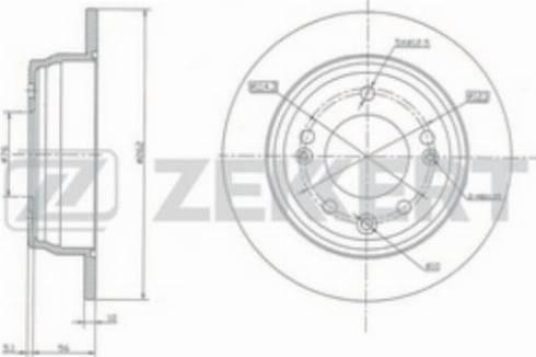 Zekkert BS-5157 - Тормозной диск autodnr.net