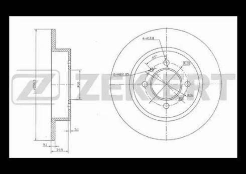 Zekkert BS-5171 - Тормозной диск autodnr.net