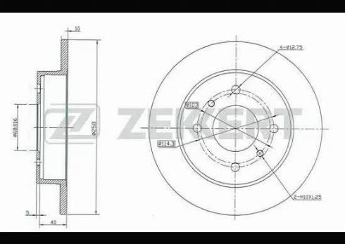 Zekkert BS-5176 - Тормозной диск autodnr.net