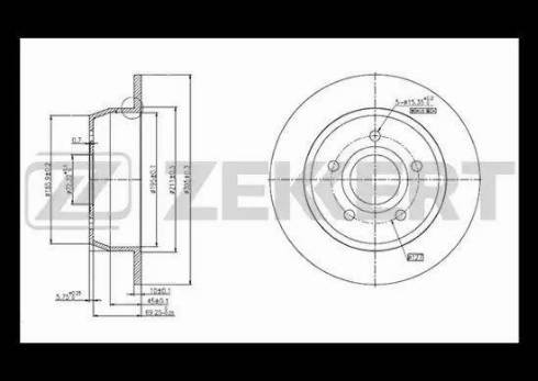 Zekkert BS-5193 - Тормозной диск autodnr.net