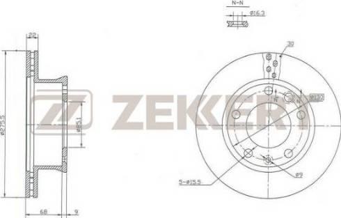 Zekkert BS-5199 - Тормозной диск autodnr.net