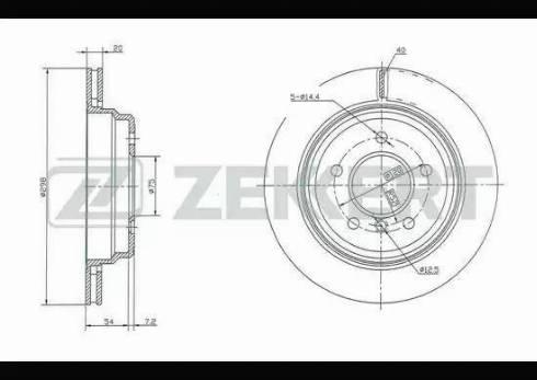 Zekkert BS-5210 - Тормозной диск autodnr.net