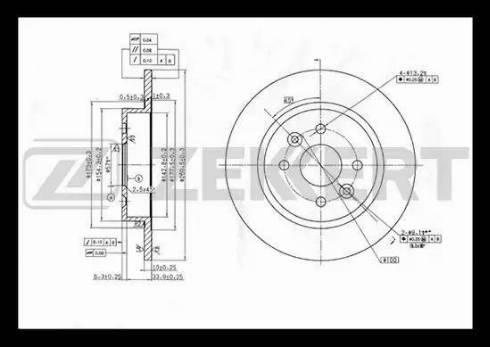 Zekkert BS-5300 - Тормозной диск autodnr.net