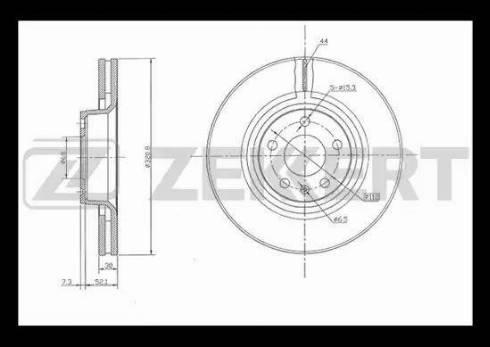 Zekkert BS-5334 - Тормозной диск autodnr.net