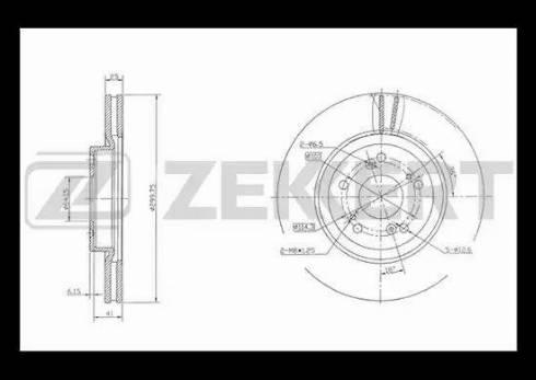 Zekkert BS-5387 - Тормозной диск autodnr.net