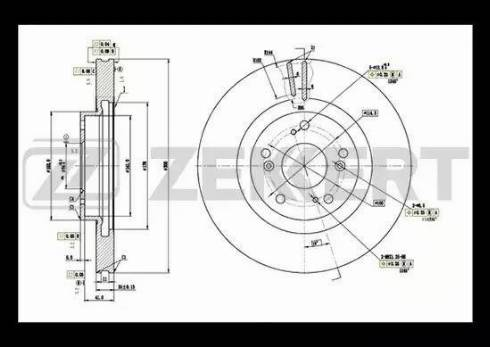 Zekkert BS-5396 - Тормозной диск autodnr.net