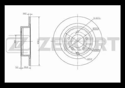 Zekkert BS-5435 - Тормозной диск autodnr.net