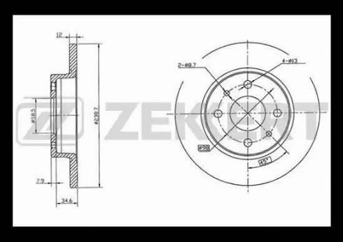 Zekkert BS-5456 - Тормозной диск autodnr.net