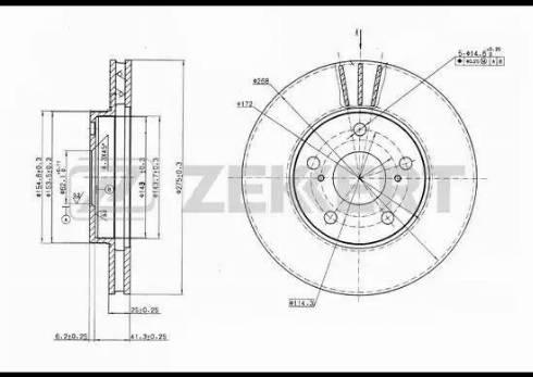 Zekkert BS-5457 - Тормозной диск autodnr.net