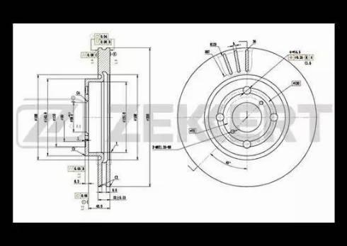 Zekkert BS-5507 - Тормозной диск autodnr.net