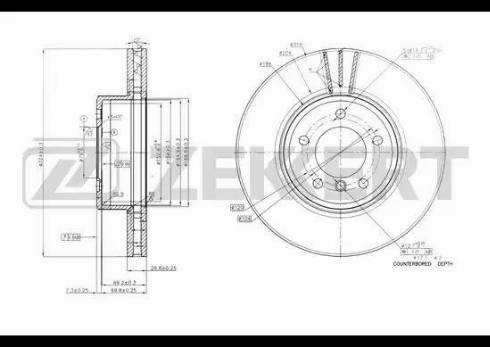 Zekkert BS-5603 - Тормозной диск autodnr.net