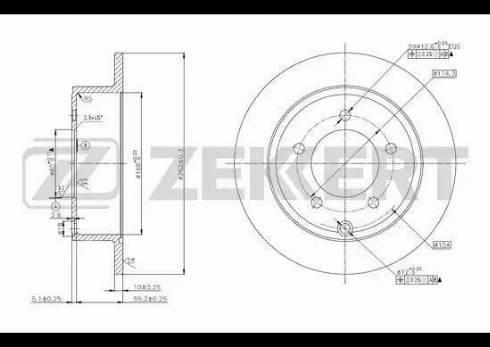 Zekkert BS-5617 - Тормозной диск autodnr.net