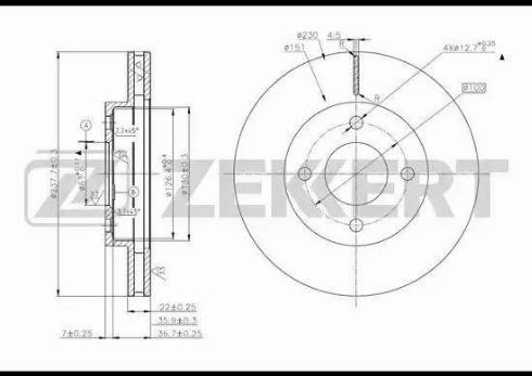 Zekkert BS-5629 - Тормозной диск autodnr.net