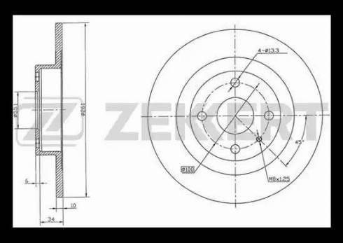 Zekkert BS-5717 - Тормозной диск autodnr.net