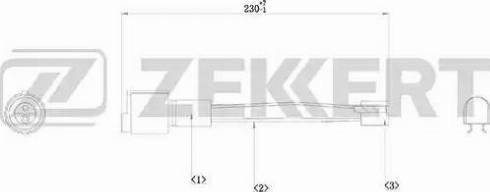 Zekkert bs-8001 - Сигнализатор, износ тормозных колодок autodnr.net