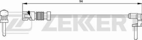 Zekkert bs-8003 - Сигнализатор, износ тормозных колодок autodnr.net