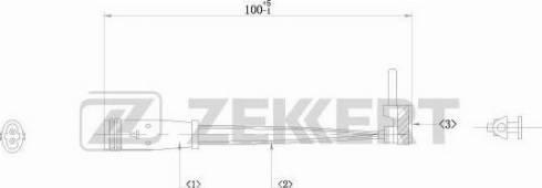 Zekkert bs8009 - Сигнализатор, износ тормозных колодок autodnr.net