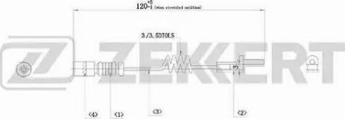 Zekkert bs8014 - Сигнализатор, износ тормозных колодок autodnr.net