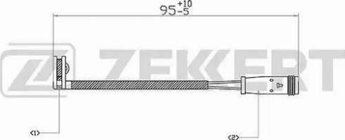 Zekkert bs8018 - Сигнализатор, износ тормозных колодок autodnr.net