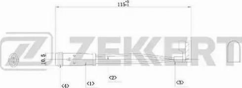 Zekkert bs8019 - Сигнализатор, износ тормозных колодок autodnr.net