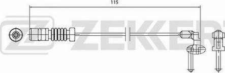 Zekkert bs-8027 - Сигнализатор, износ тормозных колодок autodnr.net