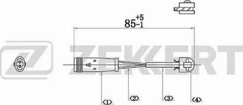 Zekkert bs-8031 - Сигнализатор, износ тормозных колодок autodnr.net