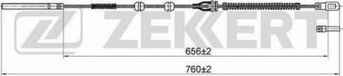 Zekkert bz1196 - Трос, стояночная тормозная система autodnr.net