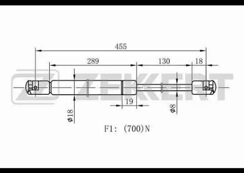 Zekkert gf1093 - Газовая пружина, крышка багажник autodnr.net