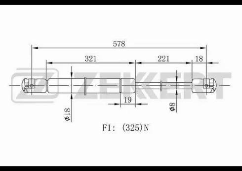 Zekkert gf1098 - Газовая пружина, крышка багажник autodnr.net