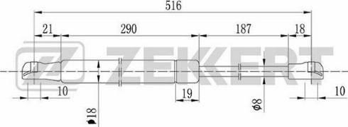 Zekkert gf1381 - Газовая пружина, крышка багажник autodnr.net
