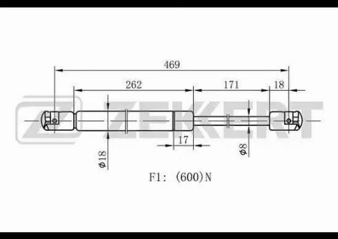 Zekkert gf1430 - Газовая пружина, крышка багажник autodnr.net