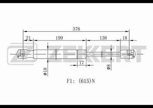 Zekkert gf1898 - Газовая пружина, крышка багажник autodnr.net