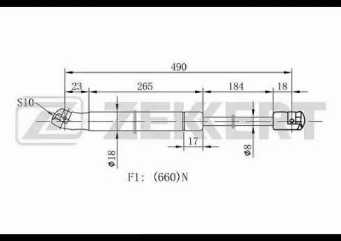Zekkert gf1934 - Газовая пружина, крышка багажник autodnr.net