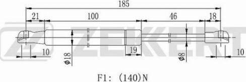 Zekkert GF2124 - Газовая пружина, ножной стояночный тормоз car-mod.com