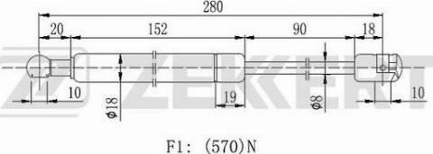 Zekkert gf2144 - Газовая пружина, крышка багажник autodnr.net