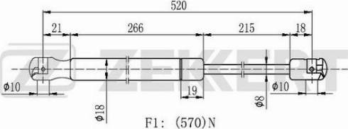 Zekkert gf2177 - Газовая пружина, крышка багажник autodnr.net