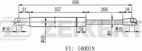 Zekkert gf2182 - Газовая пружина, крышка багажник autodnr.net