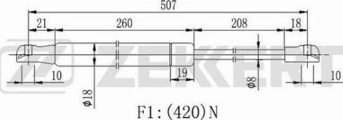 Zekkert gf2203 - Газовая пружина, крышка багажник autodnr.net