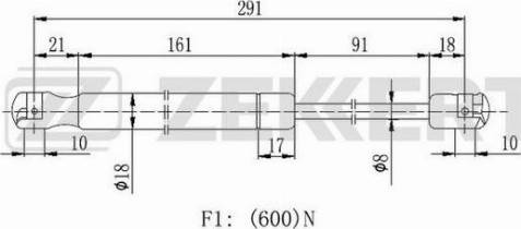 Zekkert gf2464 - Газовая пружина, крышка багажник autodnr.net