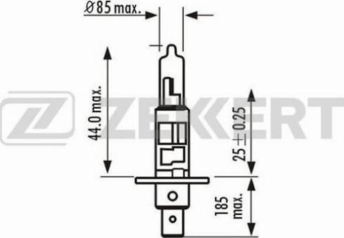 Zekkert lp-1001 - Лампа накаливания, фара с авт. системой стабилизации autodnr.net