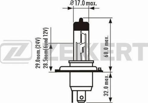 Zekkert lp-1011 - Лампа накаливания, противотуманная фара autodnr.net