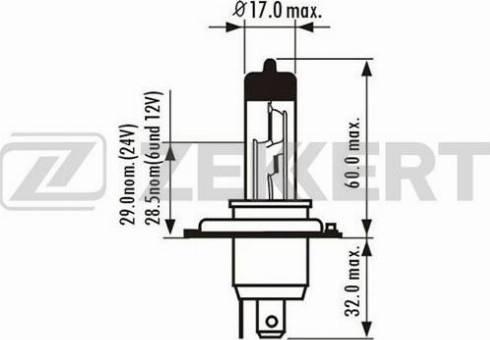 Zekkert lp1018 - Лампа накаливания, противотуманная фара autodnr.net