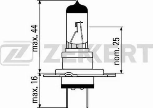 Zekkert lp-1067 - Лампа накаливания, фара с авт. системой стабилизации autodnr.net