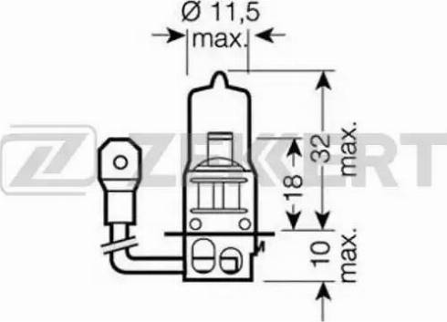 Zekkert lp-1127 - Лампа накаливания, фара с авт. системой стабилизации autodnr.net